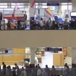 movilización en el edificio sede